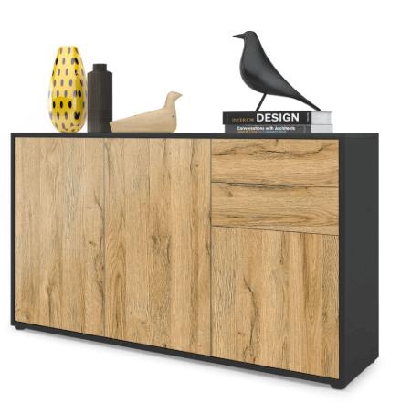 aparador sencillo estilo industrial madera