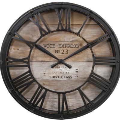 thump - Reloj industrial madera y forjado