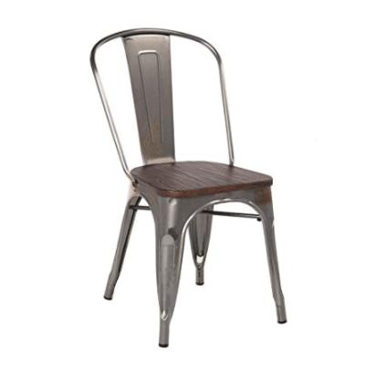 thump - silla estilo industrial gris metalizado